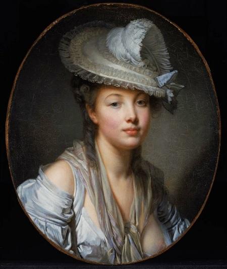 Jean-Baptiste Greuze (1725-1805) Chapeau blanc