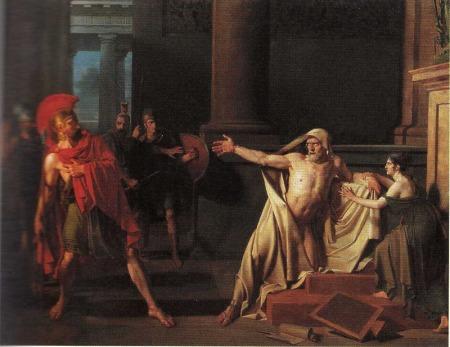 La Mort de Démosthène. Belle œuvre dramatique néoclassique.